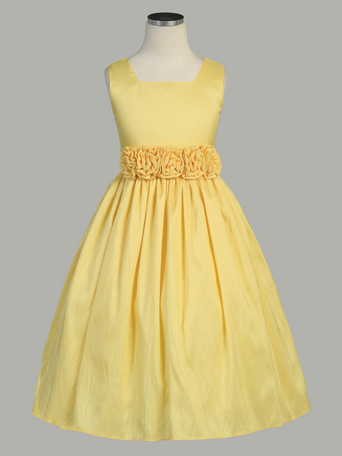Yellow Flower Girl Dresses 112