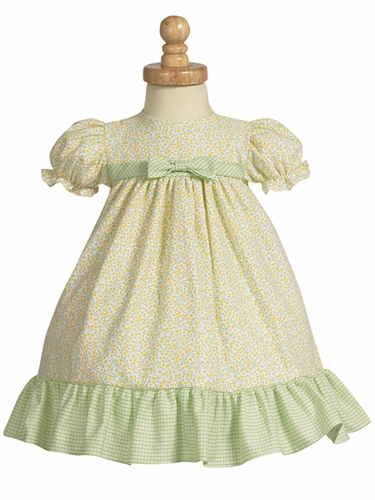 Yellow Cotton Print Baby Dress