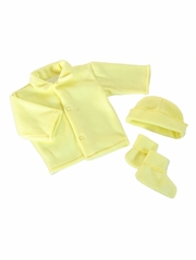 Yellow Poly Fleece Bootie Set