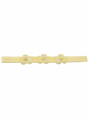 Yellow Three Flower Infant Headband