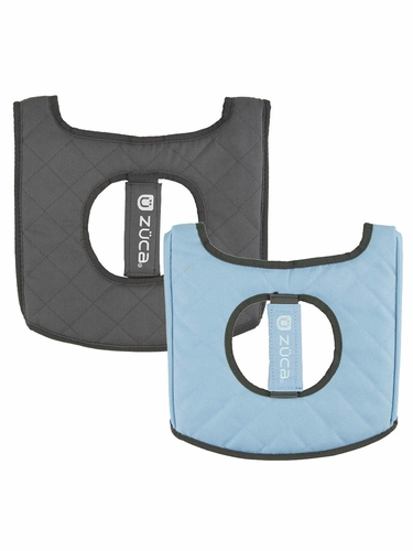 ZUCA Flyer Seat Cushion - Gray/Gloss Blue