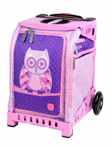 ZUCA Mini Owl Bag (w/ Pink Snack Pouch) / Mini Pink Frame