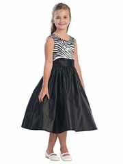Zebra Pattern Bodice Dress