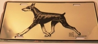 Doberman License Tag