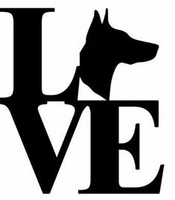 Doberman Love Decal