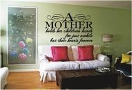A MOTHER Holds Her Children's Hands | Wall Decals