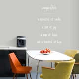 A Recipe Of Love - Wall Decals