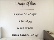 A Recipe Of Love | Wall Decals