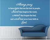 Always Pray | Wall Decals