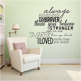 Always Remember Your Are Braver - Wall Decals