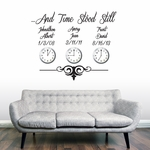 Custom Time Stood Still | Wall Decals