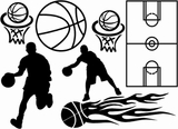 Basketball - Wall Decals