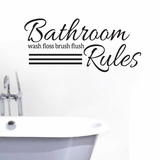 Bathroom Rules - Wall Decals