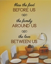 Bless the Food Before Us | Wall Decals