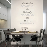 Bless the Food Before Us - Wall Decals