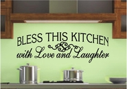 Bless This Kitchen with Love and Laughter Wall Decals