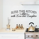 Bless This Kitchen With Love and Laughter | Wall Decals