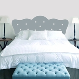Button Headboard - Wall Decals