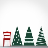 Christmas Tree Set - Wall Decals