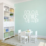 Color Outside The Lines - Wall Decals