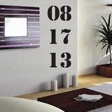 Custom Anniversary or Birth Date | Wall Decals