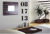 Custom Anniversary / Birth Date | Wall Decals