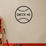 Custom Baseball - Wall Decals