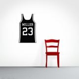 Custom Basketball Jersey - Wall Decals