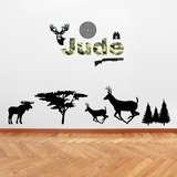 Custom Camo Name & Hunting - Wall Decals