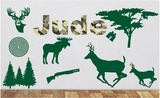 Custom Camo Name Hunting | Wall Decal Pack