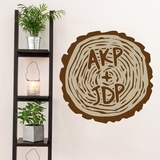 Custom Carved Tree Trunk - Printed Wall Decal