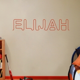 Custom Connected Name - Wall Decals