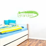 Custom Crocodile Name - Wall Decals