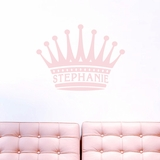 Custom Crown Name - Wall Decals