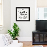 Custom Family Name - Wall Decals