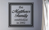 Custom Family Name Wall Decals