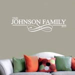Custom Family Name with Scroll | Wall Decals