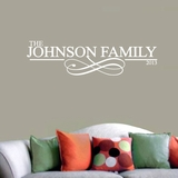 Custom Family Name with Scroll - Wall Decals