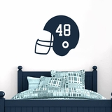 Custom Football Helmet - Wall Decals