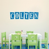 Custom Funky Block Name - Wall Decals