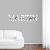 Custom Name with Year - Wall Decals