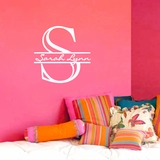 Monogram with Name - Wall Decals