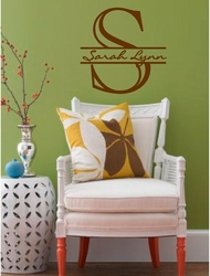 Custom Monogram Letter and Name | Wall Decals