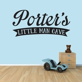Custom Little Man Cave - Wall Decals