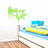 Custom Lizard Name - Wall Decals