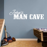 Custom Name Man Cave - Wall Decals