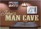 Custom Man Cave | Wall Decals