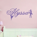 Custom Name With Ballerinas - Wall Decals