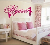 Custom Name Ballerinas Wall Decals
