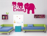 Custom Name Elephant Wall Decals